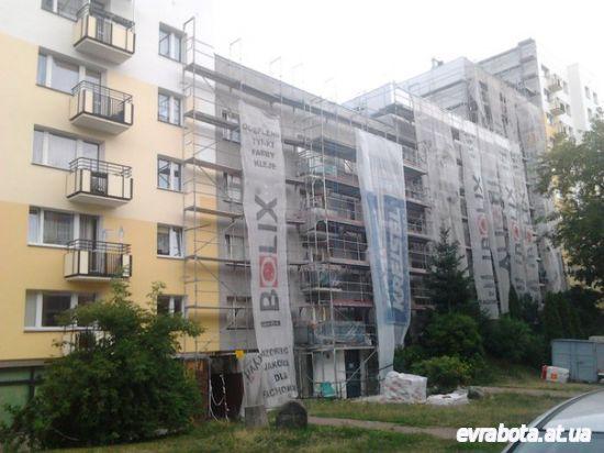 Работа с фасадами зданий Польша - Работа в Польше